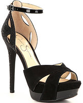 Jessica Simpson Wendah Rhinestone Detail Platform Dress Sandals