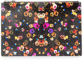 Givenchy Iconic Prints Night Pansy Large Pouch Bag, Multi