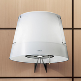 Elica Charm Cooker Hood, Stainless Steel/White Glass