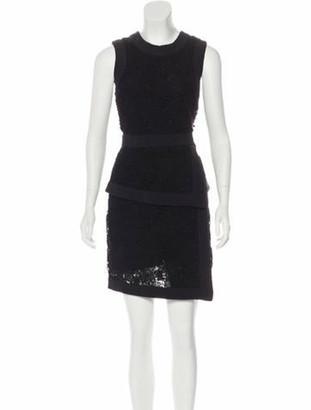 Elie Saab Lace Sleeveless Dress Black