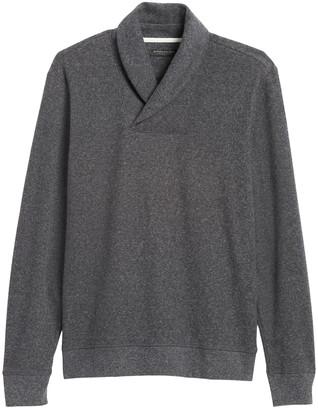 Banana Republic Waffle-Knit Shawl-Collar Sweatshirt