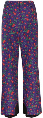 MONCLER GRENOBLE Floral Print Ski Trousers