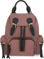 Burberry The Rucksack small nylon and leather backpack
