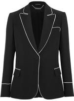 Alexander McQueen Crepe Blazer - Black