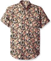 Naked & Famous Denim Men's Festival Print Short Sleeve Button Down Shirt