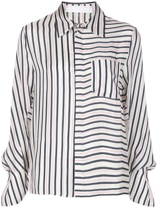 Roland Mouret Contrast Striped Long Sleeve Shirt