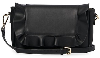 Urban Originals Frill Faux Leather Convertible Crossbody