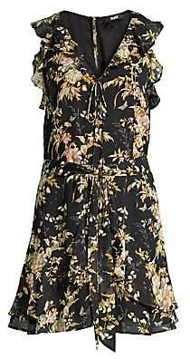 Paige Women's Tia Floral Tie-Waist Dress