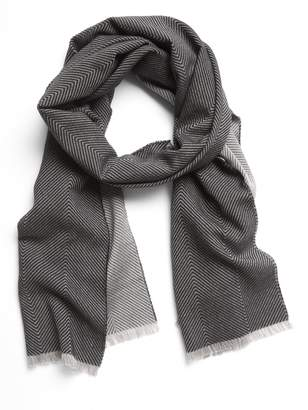 Banana Republic Herringbone Cotton-Wool Scarf