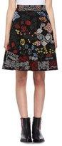 Alexander McQueen Metallic-Needlepoint Maxi Skirt