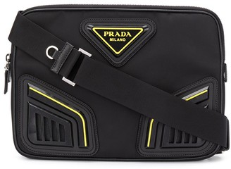 Prada Logo-Plaque Messenger Bag