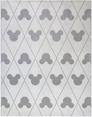 Disney Disney's Mickey Mouse Argyle Indoor Outdoor Rug