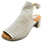 Eric Michael Tiffany Women Open-toe Leather Ivory Slingback Heel.