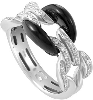 Damiani 18K 0.14 Ct. Tw. Diamond & Onyx Size 6 Ring