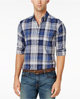Tommy Hilfiger Men's Damian Plaid Slim Fit Long-Sleeve Shirt