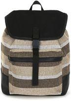 Topman Stripe Canvas Backpack