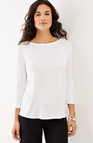 J. Jill Wearever 3/4-Sleeve Boat-Neck Top