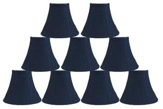 "Bloomsbury Market 6"" Burlap Bell Candelabra Shade Color: Blue"