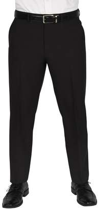 """Dockers Solid Flat Front Stretch Waistband Slim Fit Dress Pants - 30-34\"""" Inseam"""