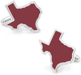 Ice Maroon Texas Cufflinks