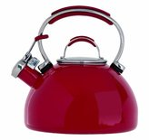 Prestige Enamel 2 Litre Stove Top Whistling Kettle - Red