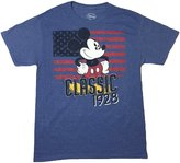 Disney Men's Classic Mickey Mouse American Flag Graphic T Shirt