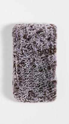 Adrienne Landau Faux Fur Knit Elastic Scarf