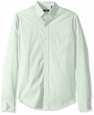 Izod Men's Fit Button Down Long Sleeve Stretch Performance Solid Shirt