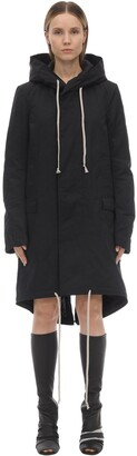 Rick Owens FISHTAIL COTTON BLEND DOWN PARKA