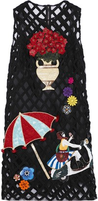 Dolce & Gabbana Appliqued Tulle Dress