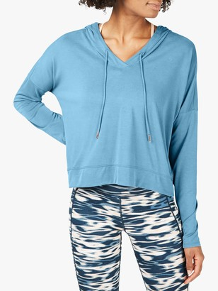 Sweaty Betty Peaceful Hoodie, Stellar Blue
