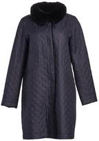 The Fur Salon Rabbit Fur-Lined Quiled Coat