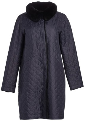 The Fur Salon Rabbit Fur-Lined Quilted Coat
