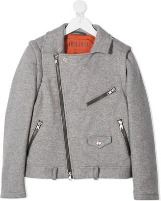 BRUNELLO CUCINELLI KIDS Virgin Wool Biker Jacket