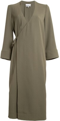 Ganni Heavy Crepe Blazer Dress