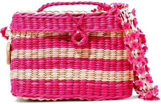 Nannacay Baby Roge Striped Woven Straw Shoulder Bag