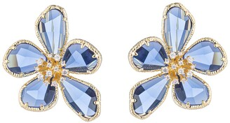 Eye Candy Los Angeles Kobal CZ Crystal Flower Clip-On Earrings