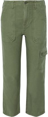 Frame Service Cropped Cotton-canvas Straight-leg Pants