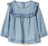 Gap Denim ruffle top