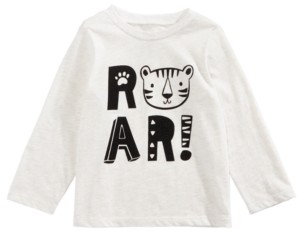 First Impressions Baby Boys Roar-Print T-Shirt, Created for Macy's