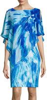 Studio 1 Abstract Print Chiffon Popover Dress