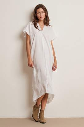 Velvet by Graham & Spencer LONDON WOVEN LINEN CAFTAN DRESS