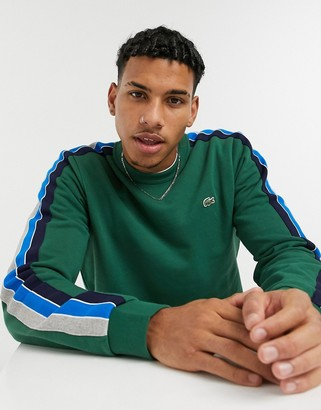 Lacoste crew neck sweatshirt in green