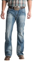 Rock & Roll Cowboy Double Barrel Jeans - Abstract Pocket (For Men)