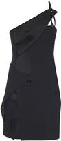 Thierry Mugler Asymmetric-neckline crepe mini dress