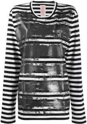 Y's striped print jumper