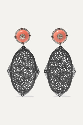 Fred Leighton Collection Platinum-topped 18-karat Yellow And White Gold Multi-stone Earrings