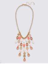 M&S Collection Bead Shower Necklace