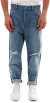 Balmain Logo Distressed Jeans