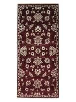 "1800 Get A Rug Tone on Tone Modern Agra Burgundy Runner Hand-Knotted Rug (2'8"" x 6')"